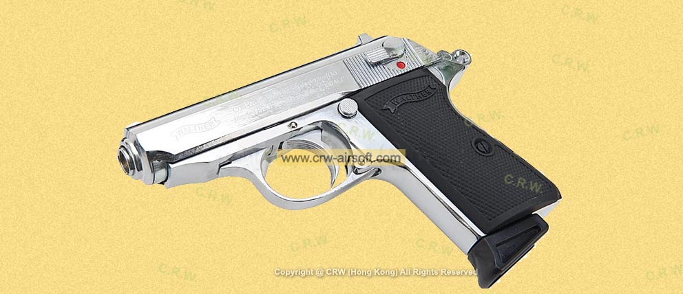 PPK s WALTHER Silver Full metal GBB by XDY
